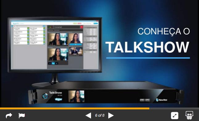 Apresentação do TalkShow Skype da NewTek