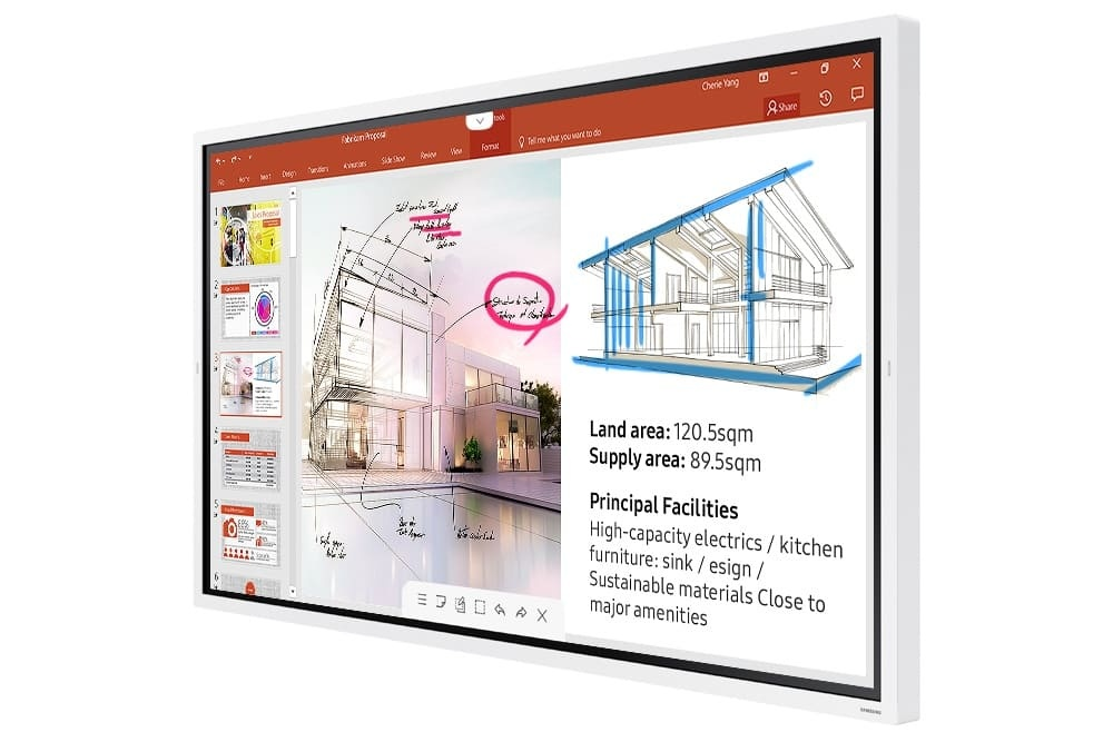 Monitor Profissional Interativo Samsung Flip LED 65WM